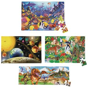 Jumbo Floor Puzzles - Set of 4