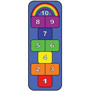 Rainbow Hopscotch Play Carpet