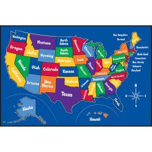 US Map Play Carpet