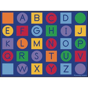 Alphabet on Circles and Squares - Rectangle Value Size