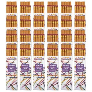 Primary Pencils W/Erasers, 24 Packs