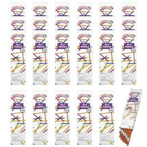 NO.2 Hex Pencils With Erasers, 24 Sets