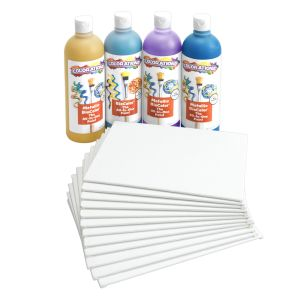 Colorations (R) Pouring Art Paint Kit with 12 Canvas Panels
