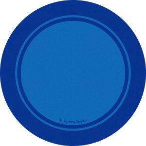 Contemporary Border Blue - Round Small