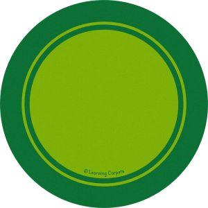 Contemporary Border Green - Round Small
