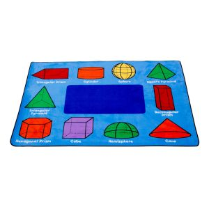 3D Geometric Shapes Rug - Rectangle Small