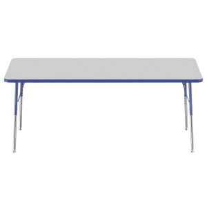 """30"""" x 72"""" Rectangle Table - Gray/Blue"""
