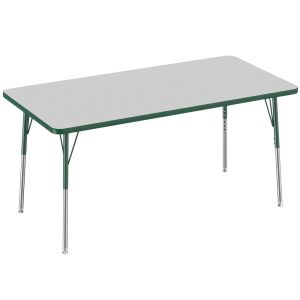 "30"" x 60"" Rectangle Activity Table - Gray/Green"