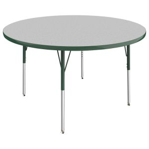"""48"""" Round Table, Gray/Green"""