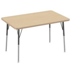 "30"" x 48"" Rectangle Table, Maple/Maple"