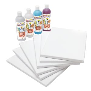 Colorations (R) Pouring Art Paint Kit with 6 Stretched Canvas