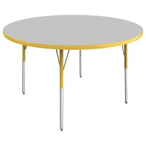 "48"" Round Table - Gray/Yellow"