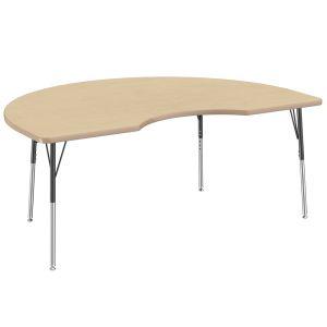 "48"" x 72"" Kidney Table, Maple/Maple"