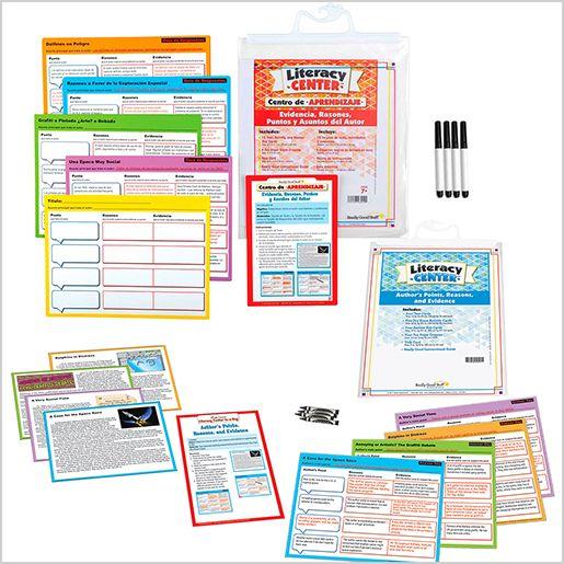 Dual Language Authors Point Literacy Center Bundle: Grades 4-5