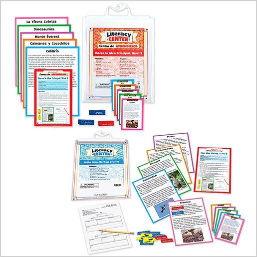 Dual Language Main Idea Markup Literacy Center Bundle: Grades 4-5