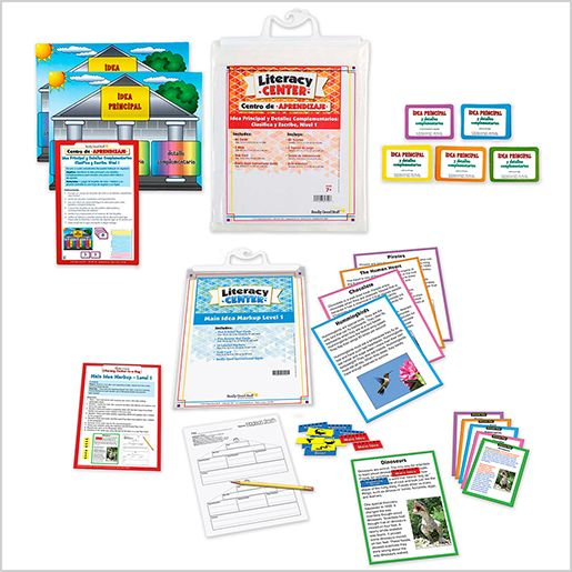Dual Language Main Idea Markup Literacy Center Bundle: Grades 2-3