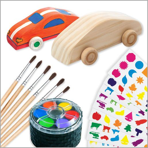 Decorate Your Own Wood Car