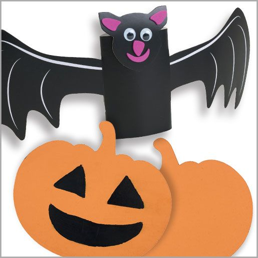 fall bat & pumpkin craft