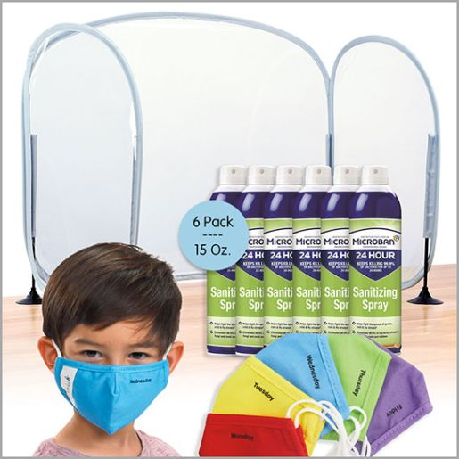 Microban Sanitizing Spray Classroom Safety Bundle