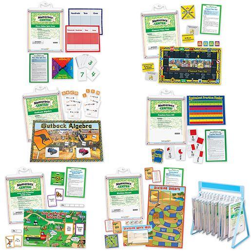 Math Skills Numeracy Centers: Grades 3-5