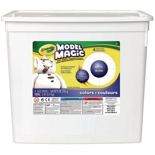 White Crayola® Model Magic® Modeling Clay - 2-lbs.