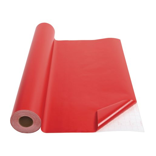 Image of Red Repositionable Con-Tact Cover - 18W x 60 ft.L