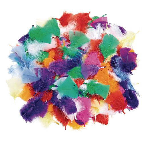 Colorations® Rainbow Feathers - 1/2 oz.