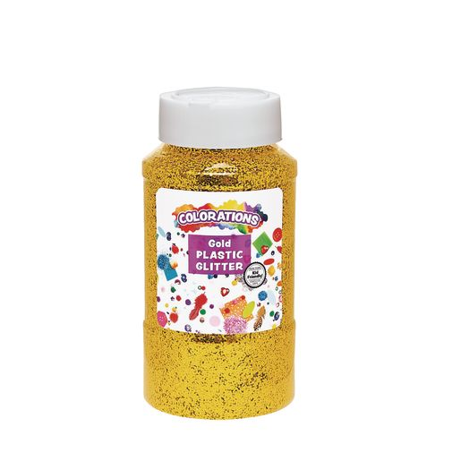 Image of Gold Colorations Extra-Safe Plastic Glitter - 1 lb.