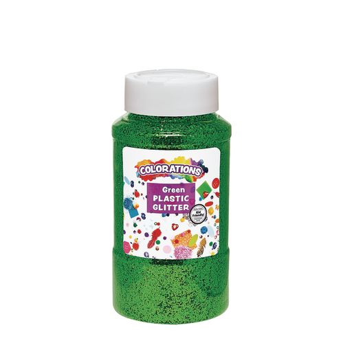 Image of Green Colorations Extra-Safe Plastic Glitter - 1 lb.