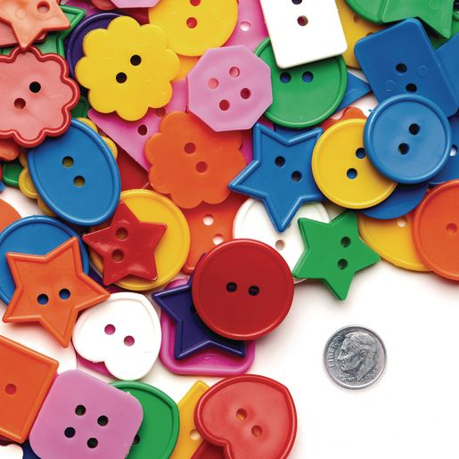 Bright Craft Buttons - 1 lb.