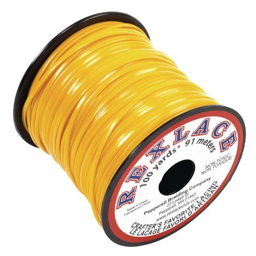 Yellow Rexlace Lacing Spool, 100 Yards