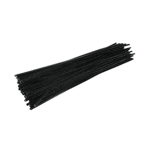 Image of Colorations Pipe Cleaners, Black - Pack of 100
