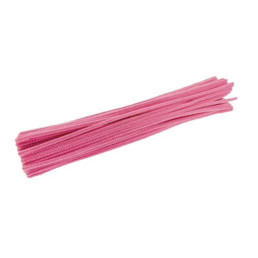 Image of Colorations Pipe Cleaners, Pink - Pack of 100