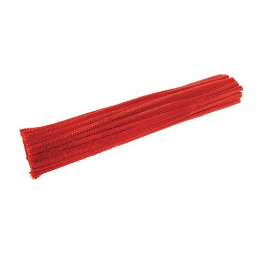 Image of Colorations Pipe Cleaners, Red - Pack of 100
