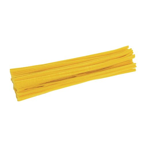 Image of Colorationns Pipe Cleaners, Yellow - Pack of 100
