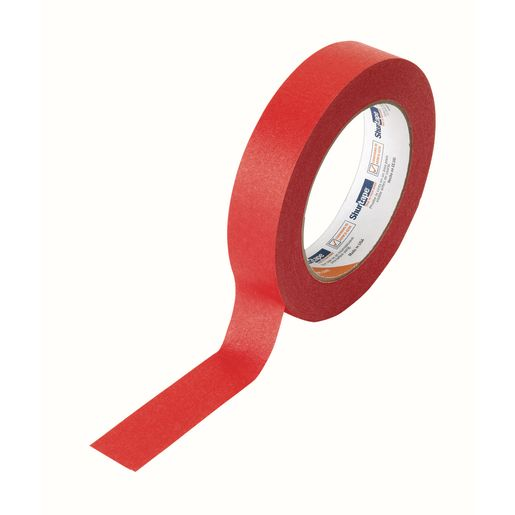 "Red Masking Tape, 1""W x 60 yds."