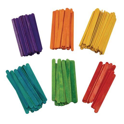Colorations Colored Regular Craft Sticks - 150 Pieces_2
