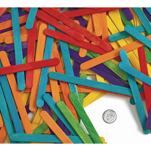 Colorations Colored Regular Craft Sticks - 150 Pieces_3