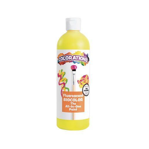 BioColor® Paint, Fluorescent Yellow - 16 oz.