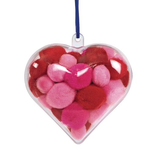 Image of Colorations Clear Heart Ornaments - Set of 12