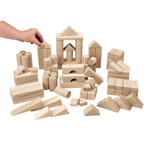 Excellerations® Best Value Tabletop Unit Blocks - 110 Piece Big Builder Set