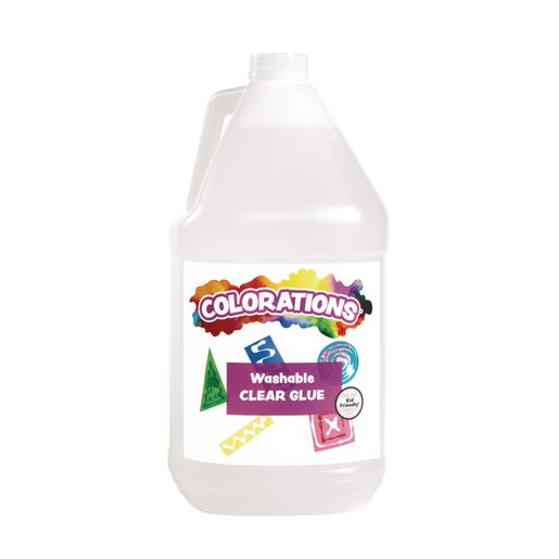 Image of Colorations Washable Clear Glue for Making Slime, Gallon