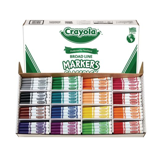 Crayola® Conical Tip Markers Classpack® - Regular, Set of 256