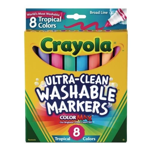 Crayola Tropical Colors Washable Markers Set Of 8 Dummy Type Code