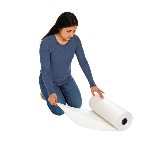 "18"" x 1000' White 40 lb. Butcher Paper Roll"