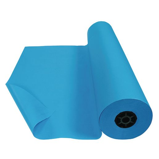 Image of Colorations Bright Blue Dual Surface Paper Roll, 36 x 1000'