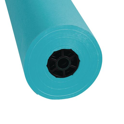 Colorations® Dual Surface Paper Roll, Aqua, 36 inches x 1000'