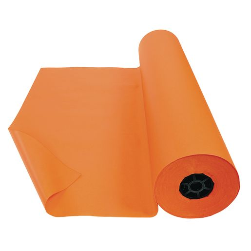 "Colorations® Dual Surface Paper Roll, Orange, 36"" x 1000'"
