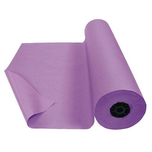 "Colorations® Dual Surface Paper Roll, Purple, 36"" x 1000'"