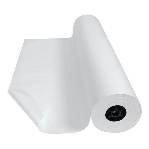 "Colorations® Dual Surface Paper Roll, White, 36"" x 1000'"